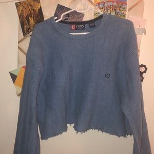 Chaps Cropped Sweater